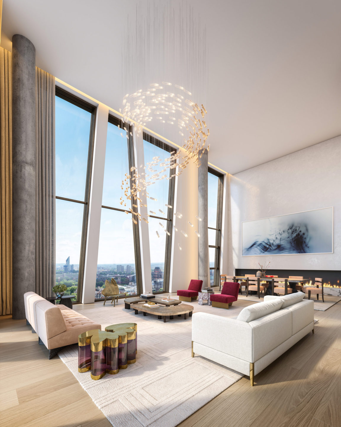 Double height penthouse, with views over London, The Broadway