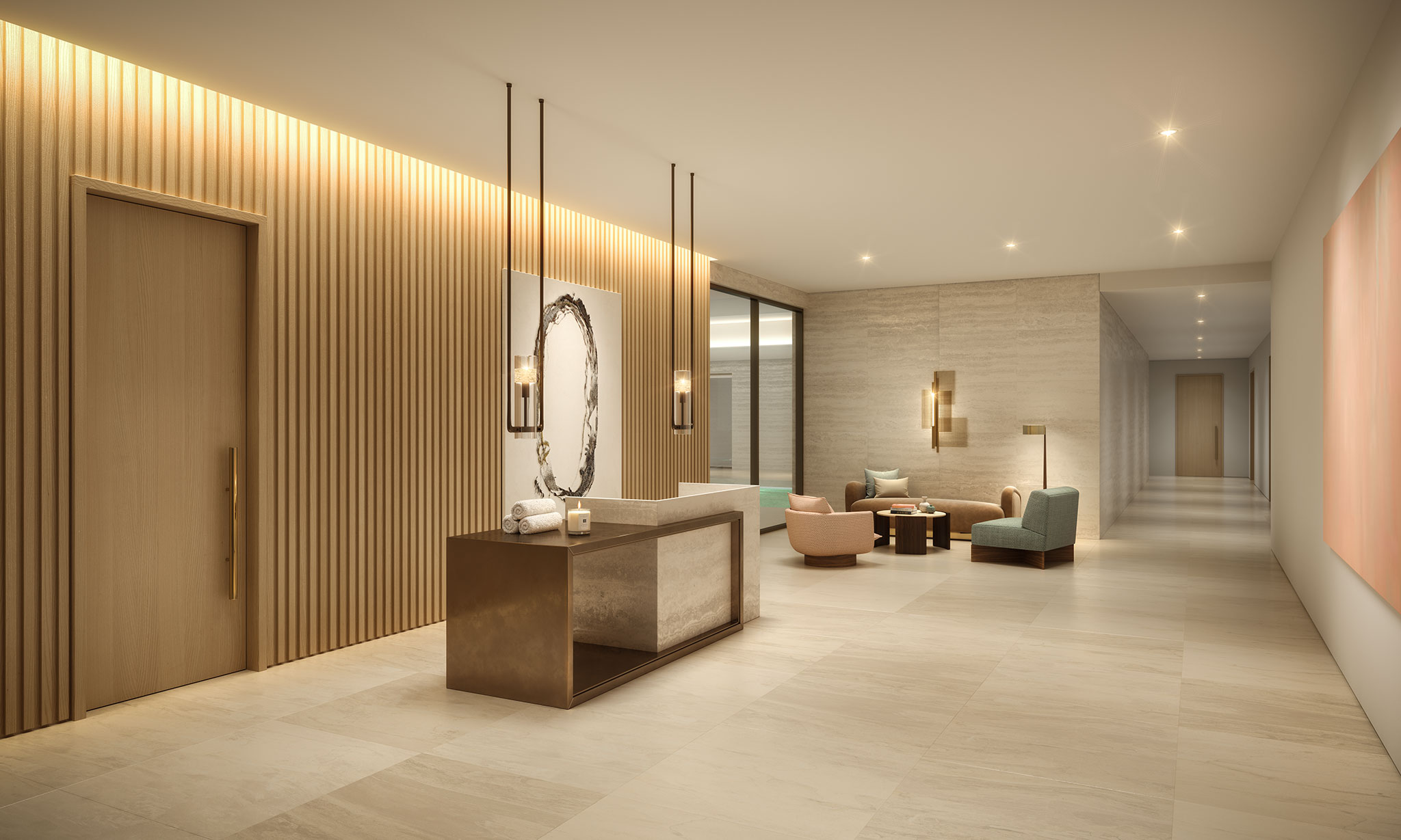 Spa reception, The Broadway