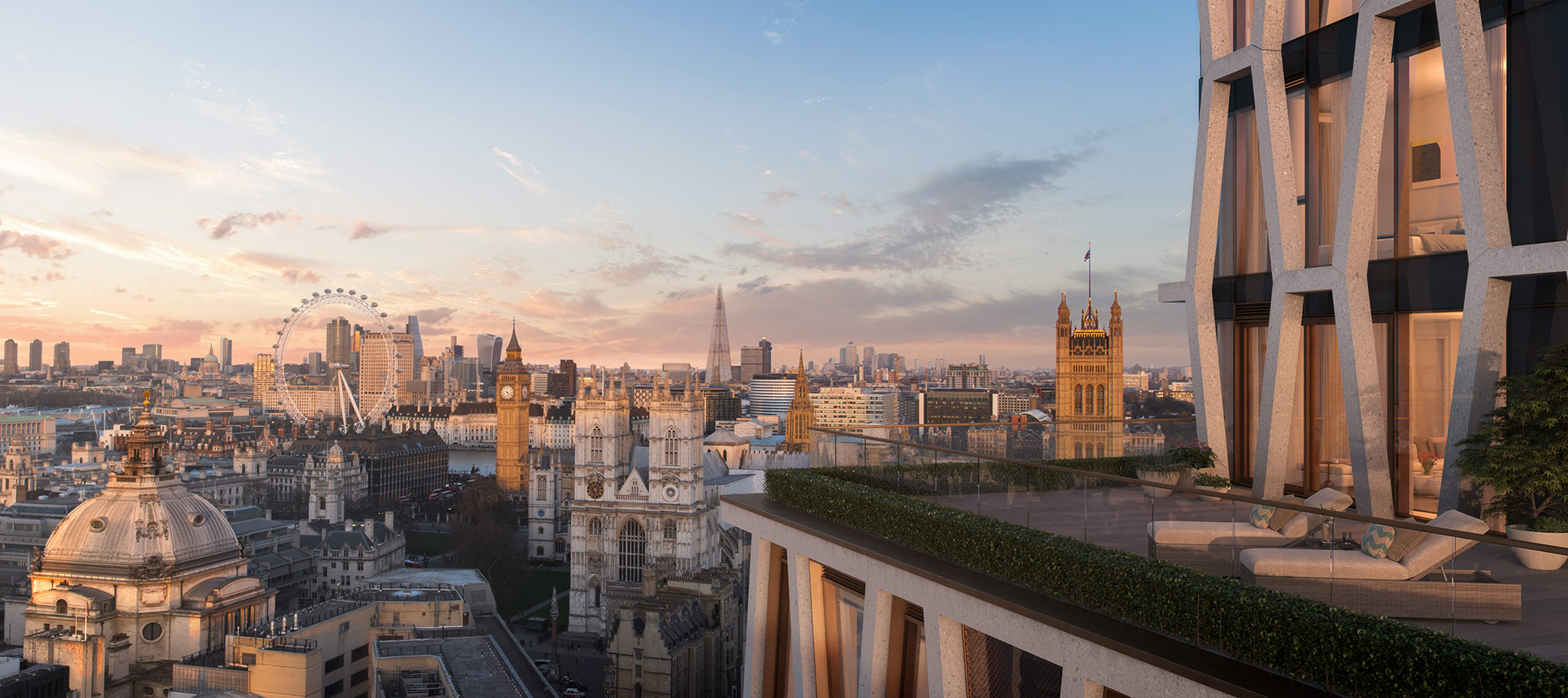 Views from The Broadway, over London