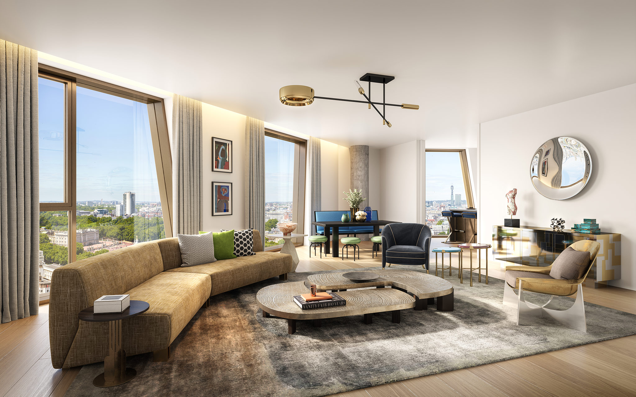 Living room, apartment, The Broadway