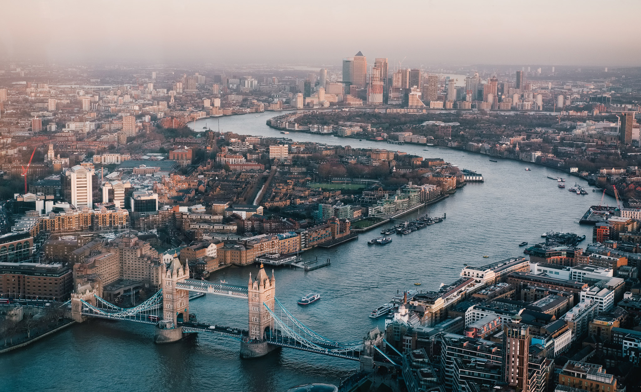 Early morning view of London